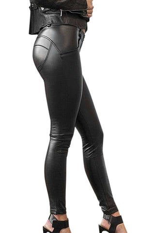 Iyasson Women's Faux Leather Pants