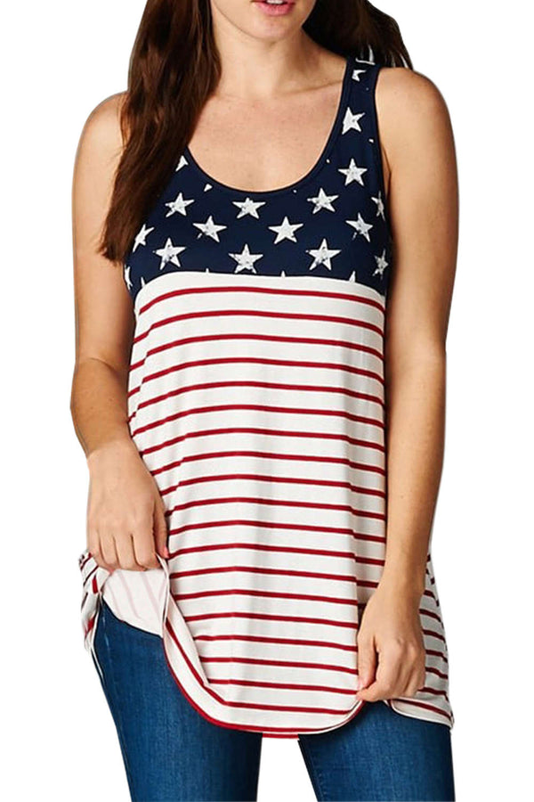 Iyasson American Flag Loose Tank