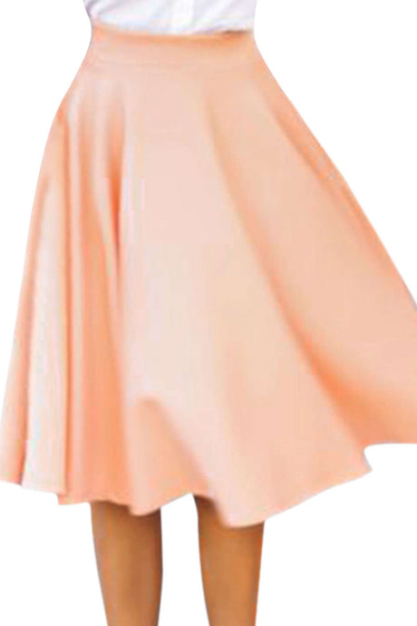 Iyasson Women's Vintage Skater Flared Pleated Long A Line Skirt