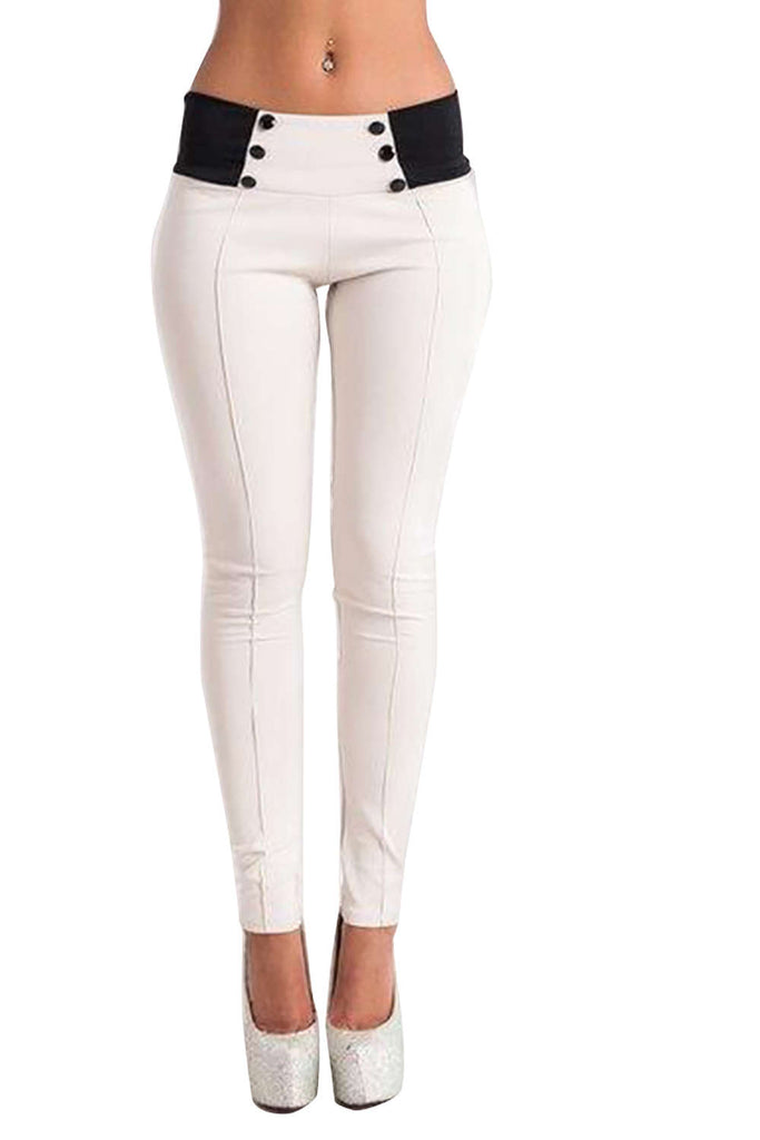 Iyasson Women's Casual Stretch Skinny Leggings Pencil Pants