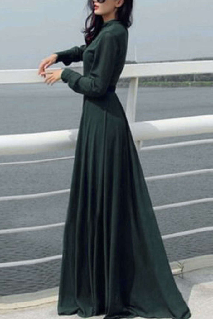 Iyasson Women Evening Party Dresses Long Sleeve Cocktail Maxi Long Dress