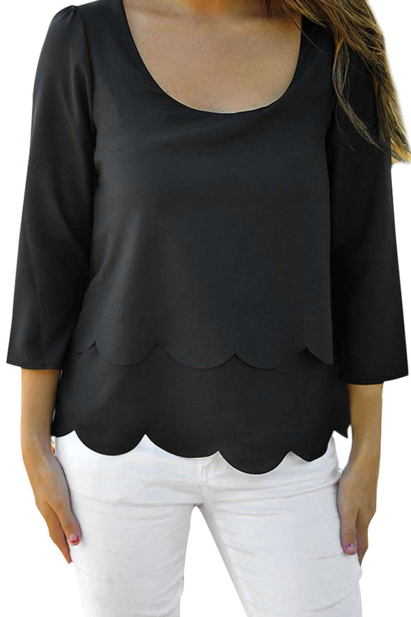 Iyasson New Fashion Women's Loose Chiffon Tops Long Sleeve Blouse