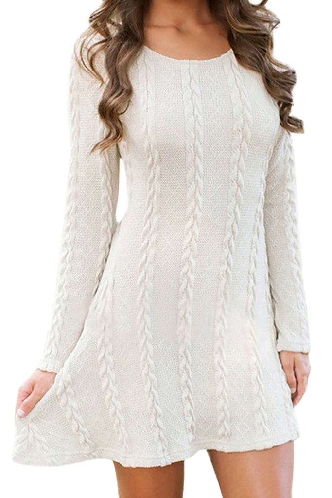 Iyasson Knitted Crewneck Sweater Dress