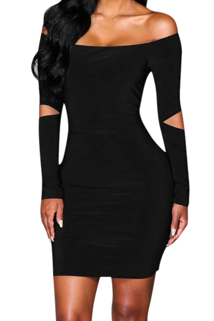 Iyasson Off Shoulder Bodycon Dress