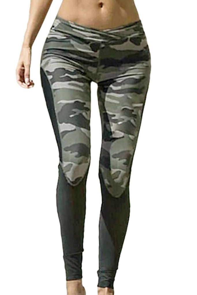 Iyasson Women's Camo Skinny Leggings Yoga Pants