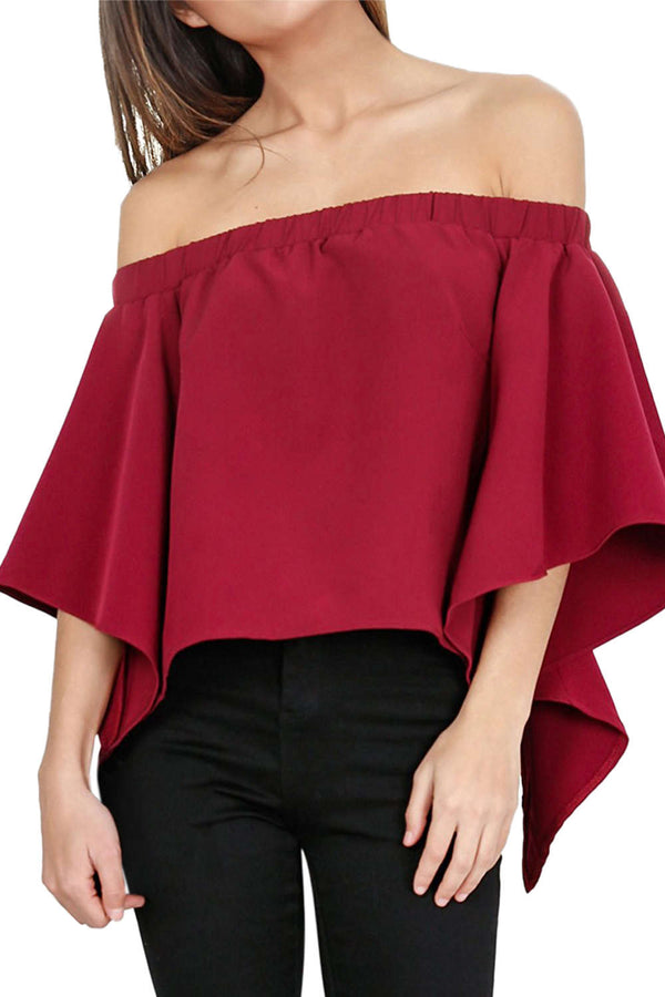 Iyasson Women's Off Shoulder Casual Strapless Blouses