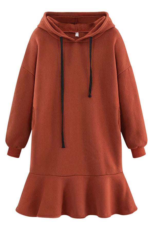 Iyasson Relaxed fit Hoodie Dress