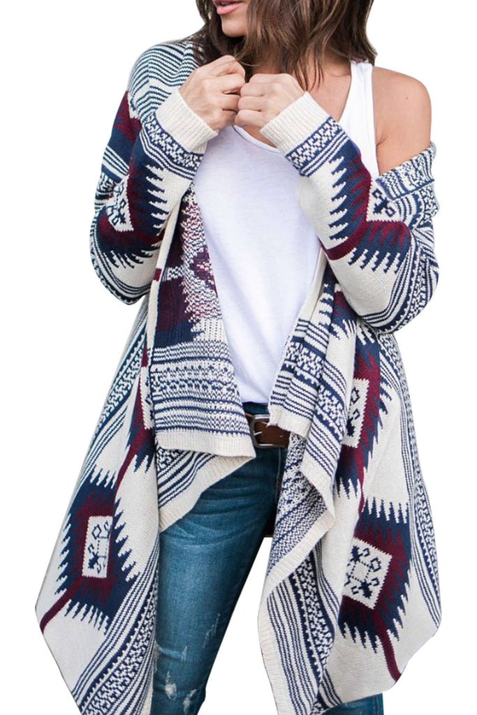 Iyasson Geometric Pattern Cardigan
