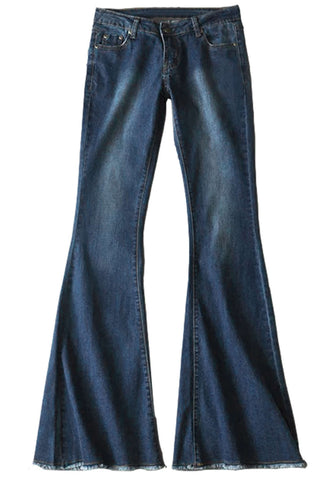 Iyasson Women's Bell Bottom Jeans