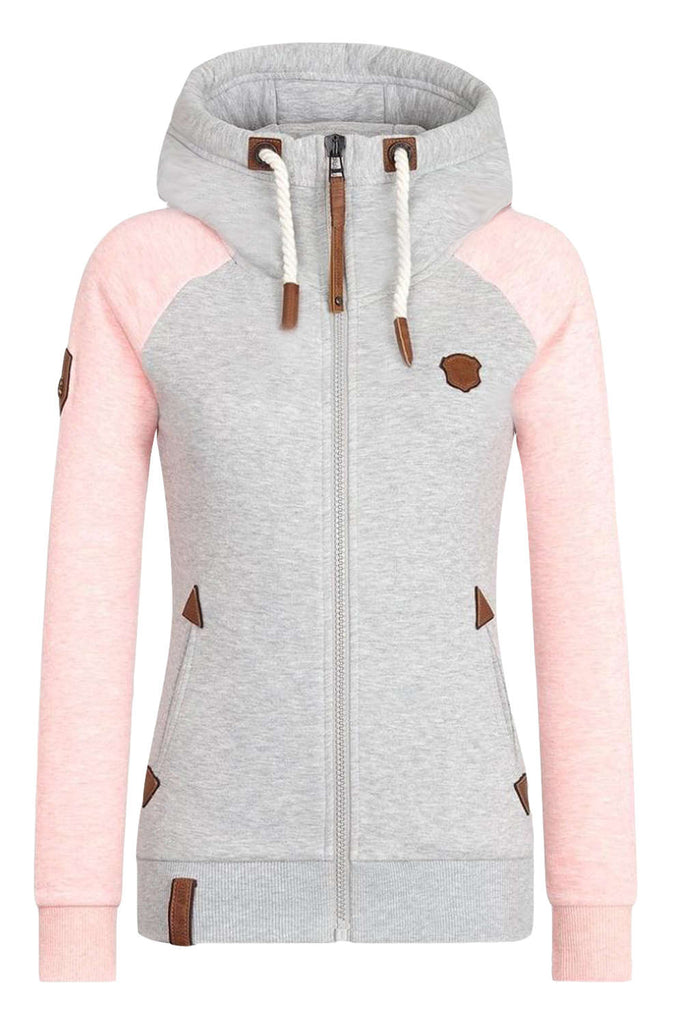 Iyasson Women's Zip Up Hoodie with Pockets