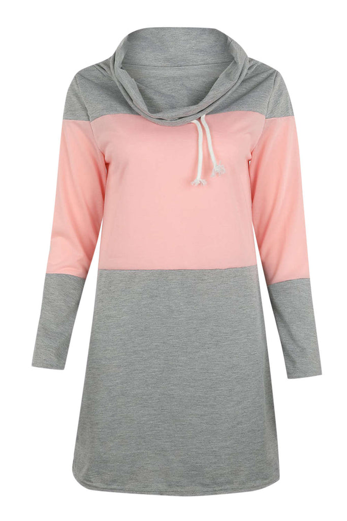 Iyasson Color-block Long Sleeve Sweatshirt