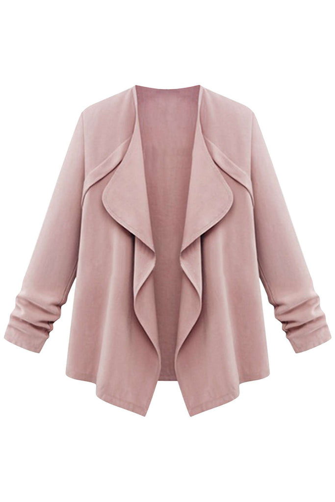 Iyasson Draped Lapel Casual Jacket Coat