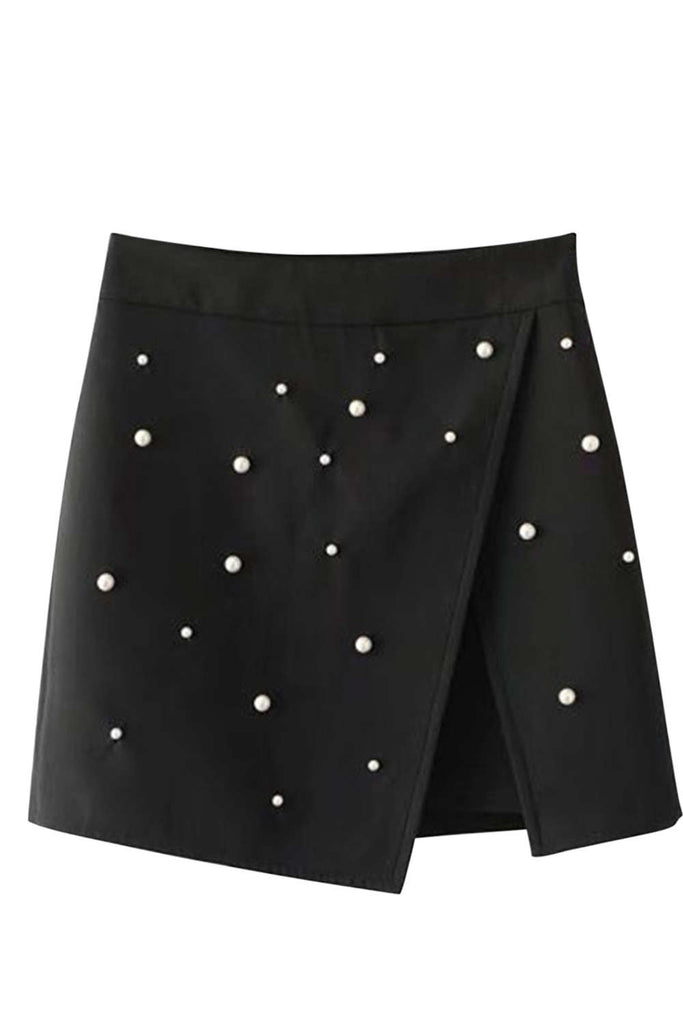 Iyasson High Waist Faux Wrap Mini Skirt