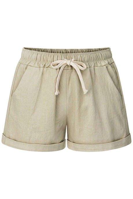 Iyasson Drawstring Elastic Waist Casual Comfy Cotton Shorts