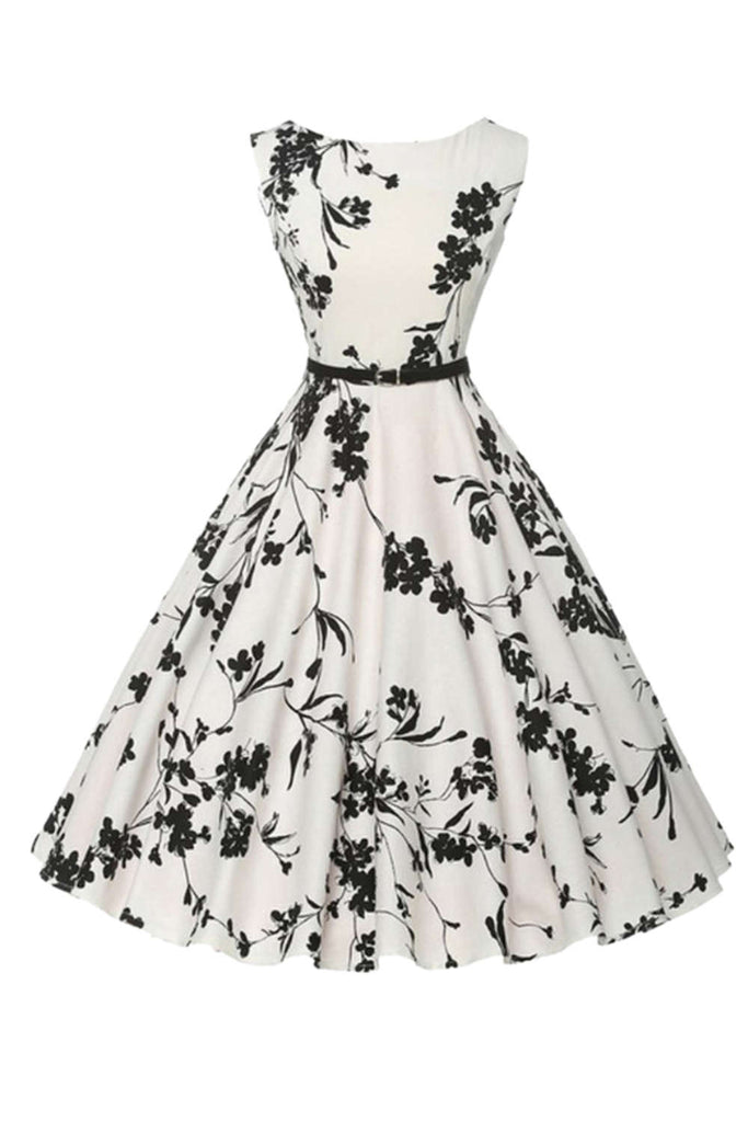 Iyasson Women's Vintage Classy Floral Party Dresses