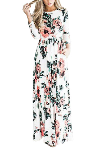 Iyasson Women's Long Sleeve Maxi Dress