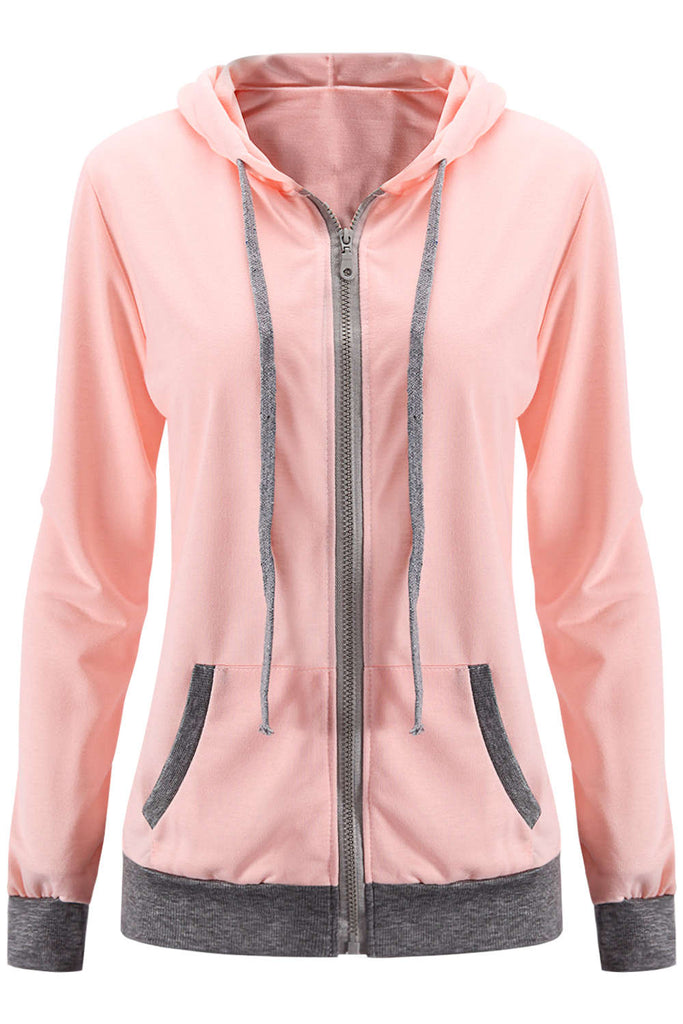 Iyasson Women's Candy Zip Up Hoodie