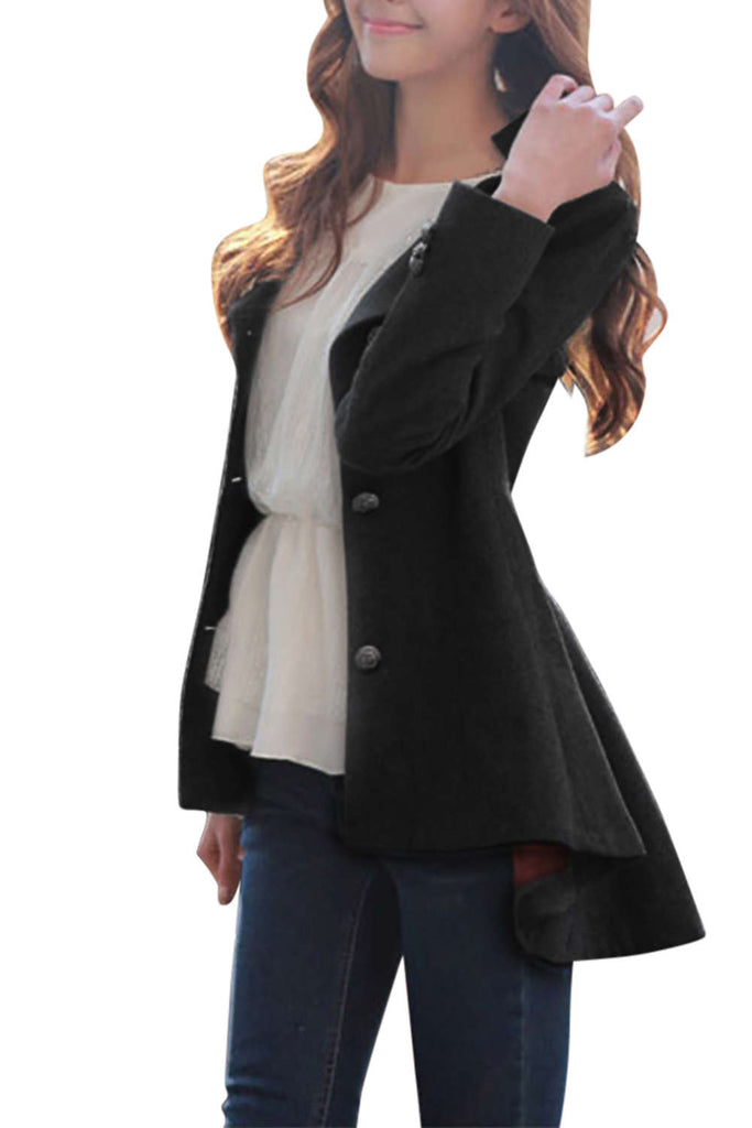 Iyasson Women's Single Breasted Down Tail Coat
