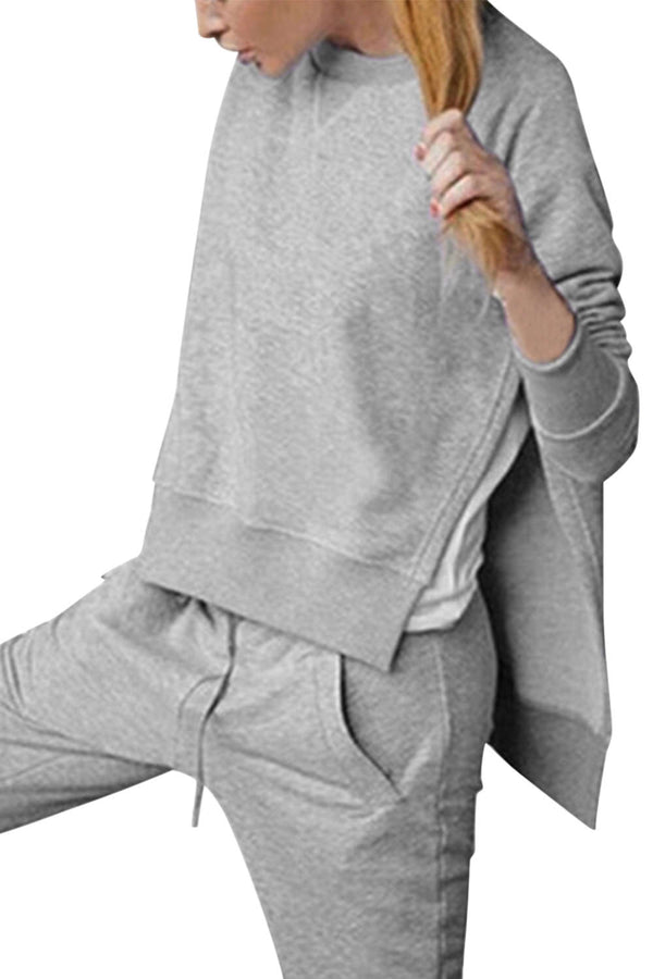 Iyasson Women Side-Split Sweater and Jogger Set