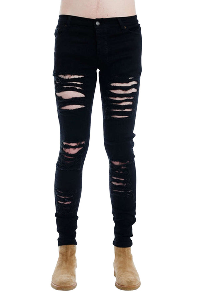 Iyasson Women's Low rise Ripped Pants