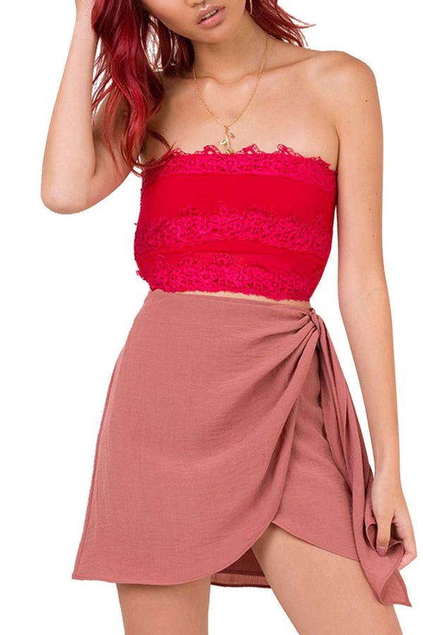 Iyasson Women's Mini Wrap Skirt