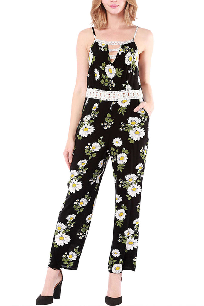 Iyasson Women's Floral Print Jumpsuits