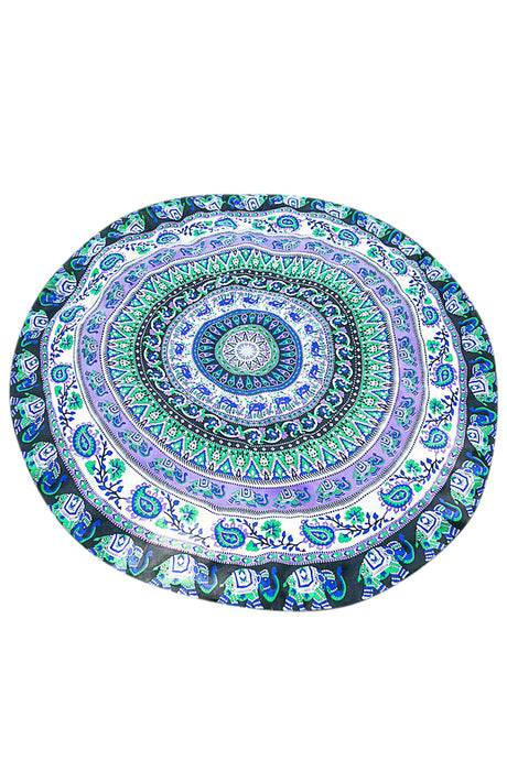 Iyasson Animal and Floral Print Round Beach Mat