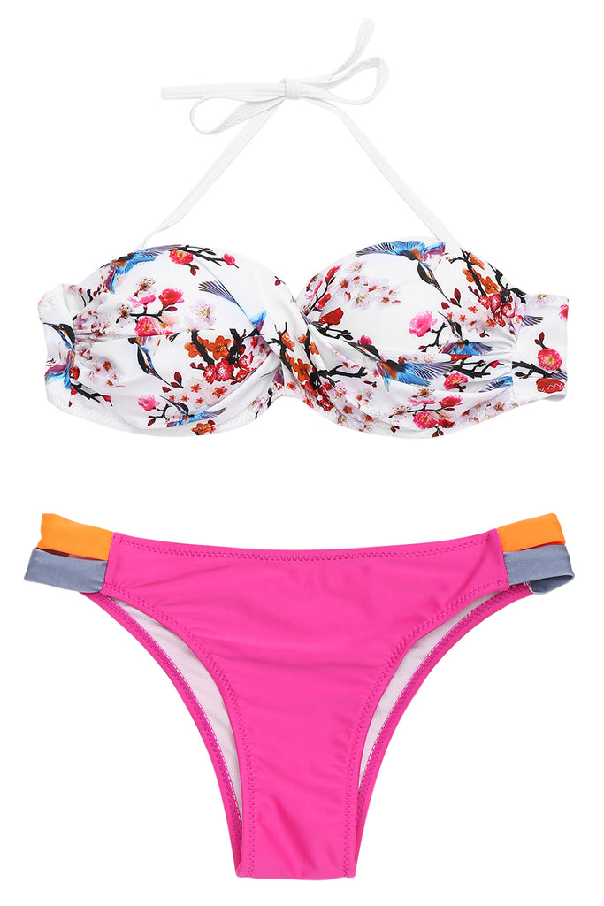 Iyasson Floral Printing Mix & Match Bikini Sets