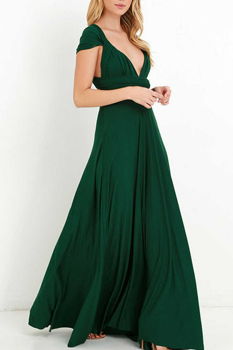 Iyasson Backless Front-Slit Long Prom Dress