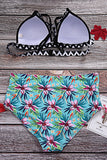 Iyasson Summer Beach Colorful Flower Printing Bikini Set