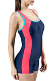 Women's One Piece Swimsuits Boyleg Sports Swimwear Bathing Suit