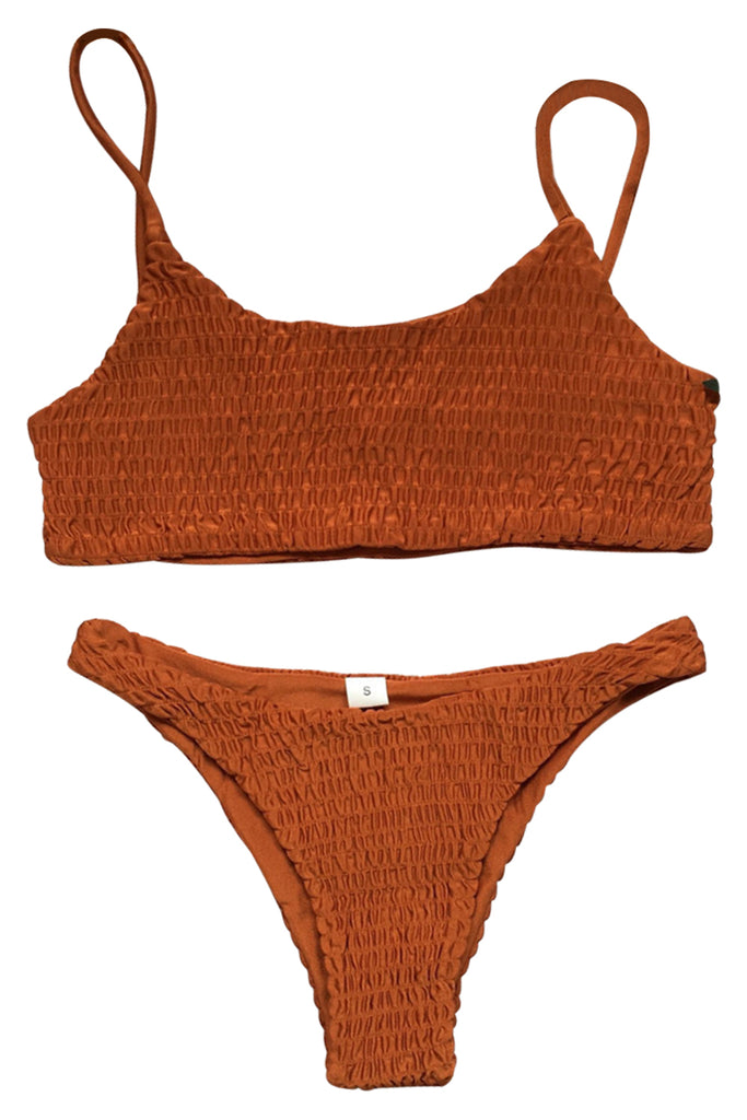 Iyasson Sexy Textured fabric Bikini Set