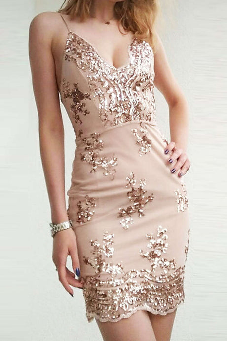 Iyasson Sequined Lace Bodycon Dress