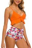 Women's Two Pieces Swimsuit High Waisted Ruffle Bikini Set Swimwear Bathing Suits for Teen Girls