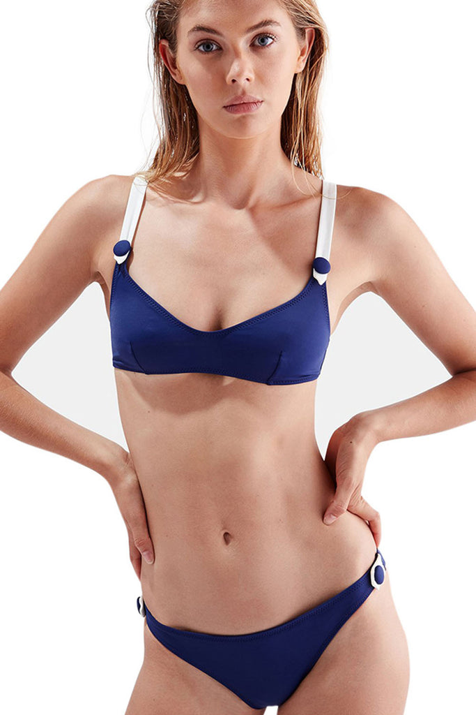 Iyasson Navy Bikini with Metal Button