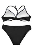 Iyasson Womens Low Rise Two Pieces Padded Bikini Set