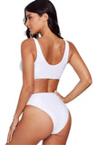 Iyasson Women's Front Zipper High Waist Tank Swimsuit