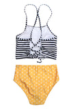 Iyasson Summer Beach Vintage Halter Bikini Set
