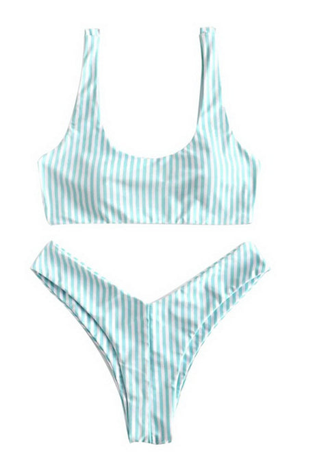 Hot Striped Bikini Set Brazilian Thong Sexy Swimwear