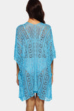 Open Knit Side Slit Cover-up