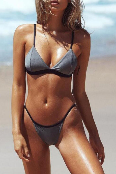 Triangle bikini set for beach vacation