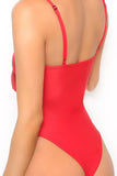 Iyasson Hollow Out One-piece Swimsuit with Bowknot