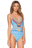 Iyasson Boho Print One-piece Swimsuit