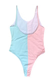 Iyasson Color-block Contrast One-piece Swimwear