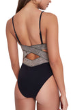 Iyasson Womens Sexy Hollow Spaghetti Strap One-piece Swimsuit