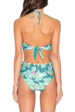 Iyasson Lush Leaves Print One-piece Swimsuit