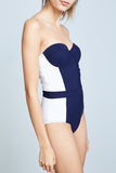 Iyasson Solid-color Tummy control One-piece Swimsuit