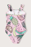 Toddler Girls Tropical & Fruit One Piece Swimsuit
