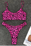 Female Leopard Print Beachwear Swimming Bikini Women