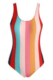 Striped Scoop Back Tank One-piece Swimsuit